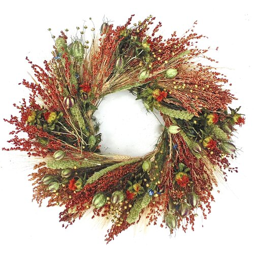 Dried Flowers and Wreaths LLC 22'' Fall Grasslands Wreath