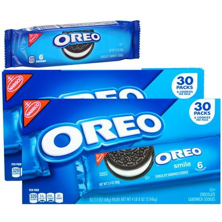 Nabisco Oreo Chocolate Sandwich Cookies 60 Pack (2.4 oz., 30 ct x 2 = 60ct.)