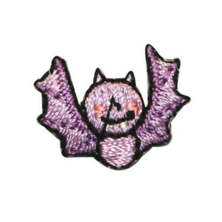 ID 0926A Cute Bat Flying Patch Halloween Kids Craft Embroidered Iron On Applique - Bat Halloween Craft