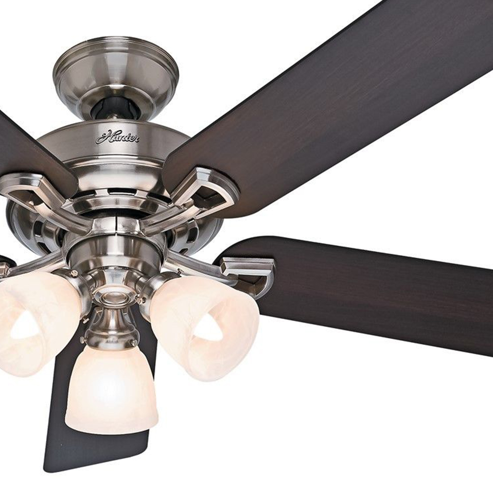 "Hunter Fan 52"" Ceiling Fan, Brushed Nickel"
