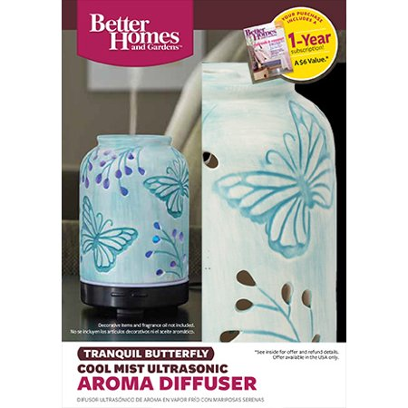 Better homes gardens 100 ml essential oil diffuser tranquil butterfly best oil diffusers Better homes and gardens diffuser