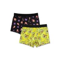 Spongebob Men's 2 Pack Poly Boxers