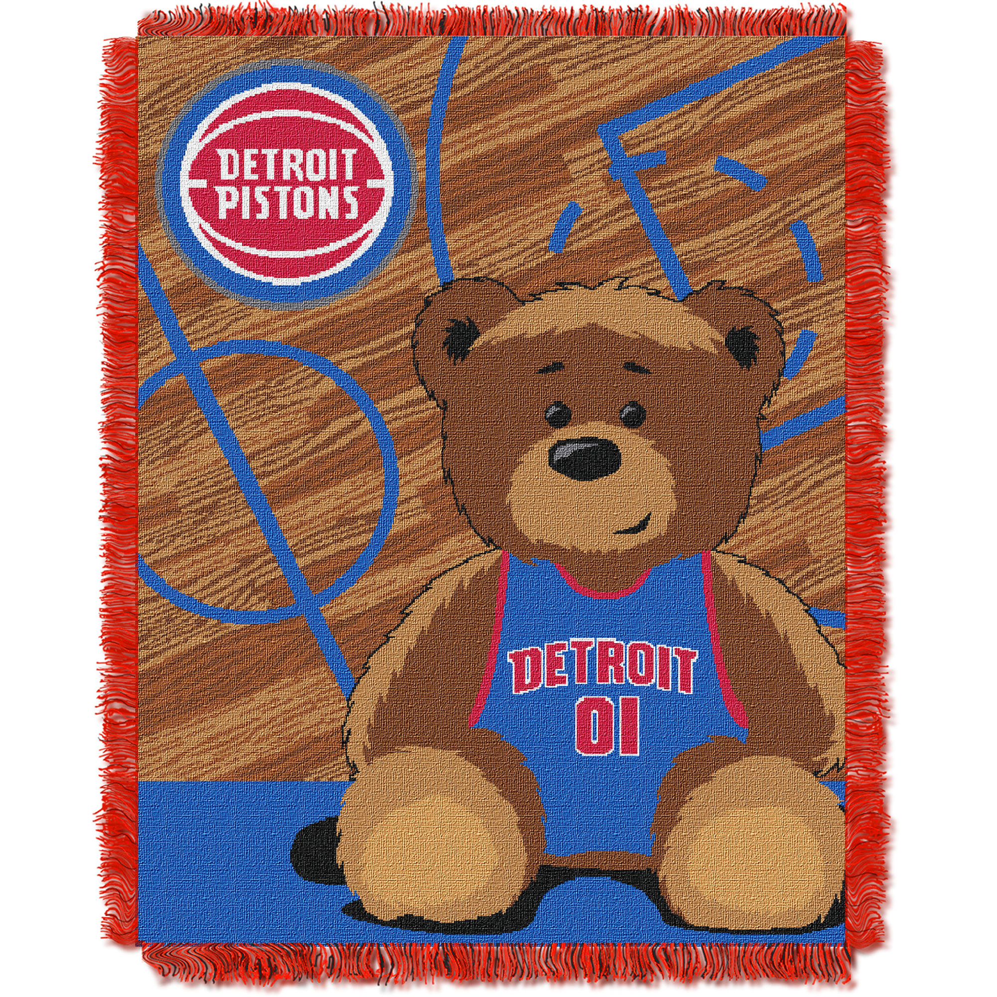 Detroit Pistons The Northwest Company 36'' x 46'' Baby Jaquard Throw - No Size