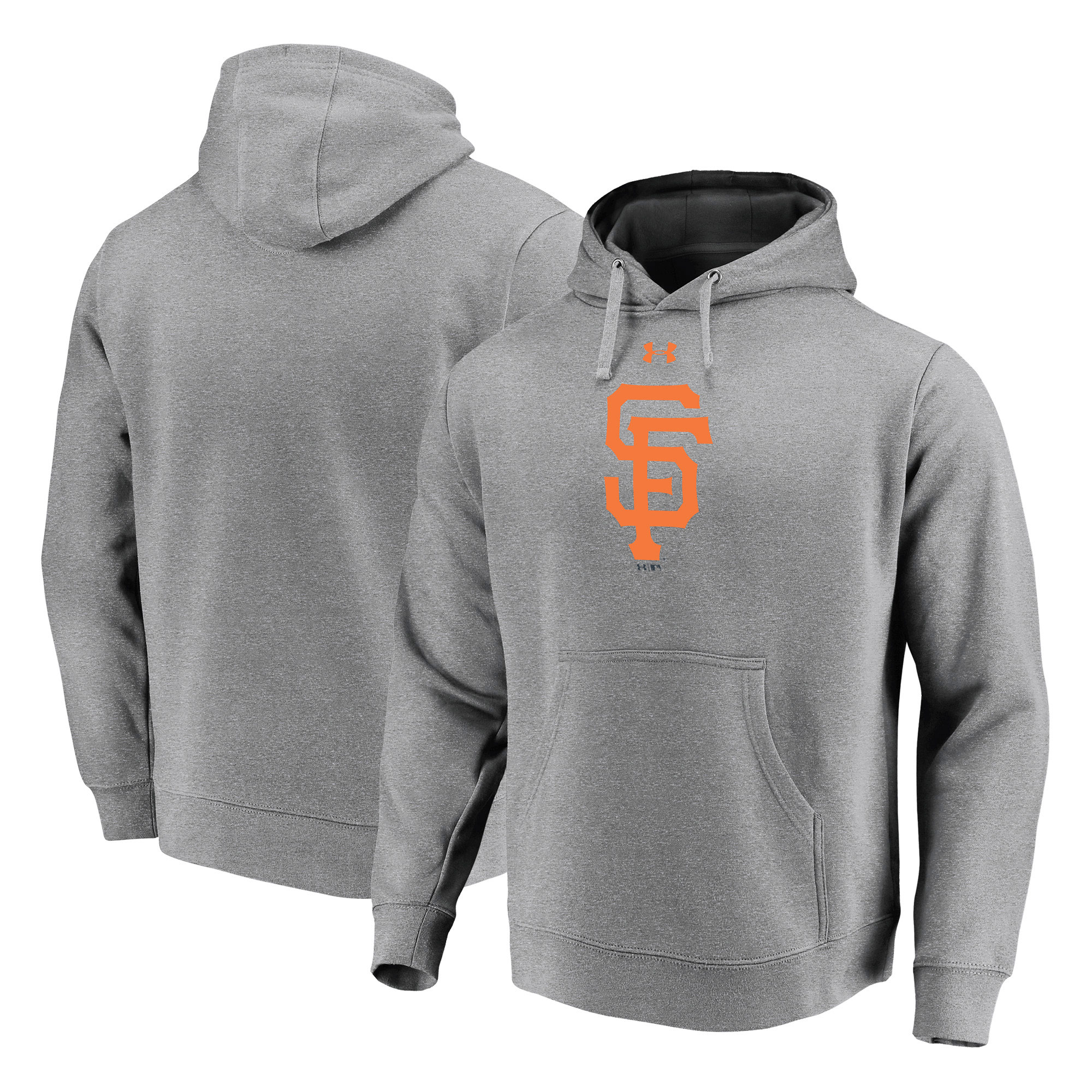San Francisco Giants Under Armour Commitment Team Mark Performance Pullover Hoodie - Heathered Gray