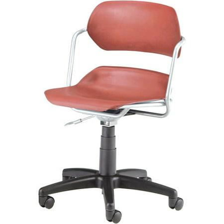OFM Armless Swivel Task Chair, Silver Frame