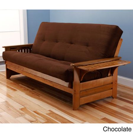 Somette Ali Phonics Multi-flex Honey Oak Full-size Wood Futon Frame ...