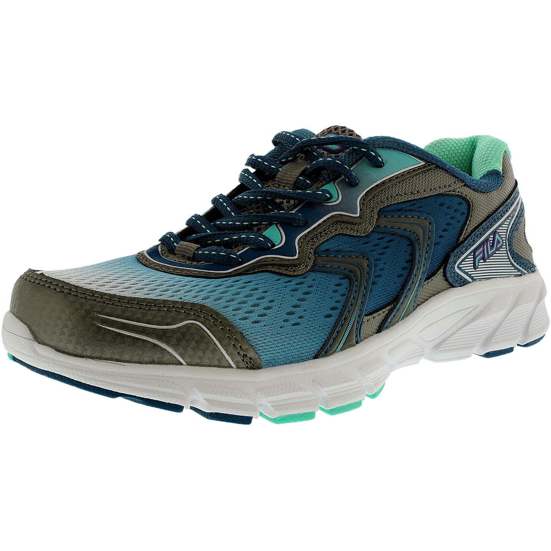 Fila Fila Women's Stellaray Dark SilverFiery CoralWhite Ankle High Running Shoe 8.5M