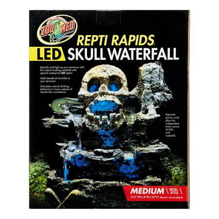 (Zoo Med Repti Rapids LED Skull Terrarium Waterfall, Medium)