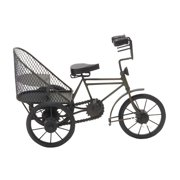 Decmode Metal and Wood Rickshaw, Multi Color
