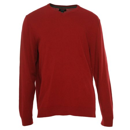 Mens Classic V-neck Sweater - Alfani NEW Crimson Red Mens Size 2XL Regular Fit Classic V-Neck Sweater $60 #740