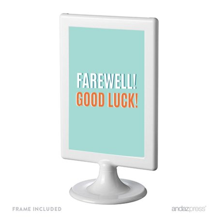 Farewell Retirement Party Decorations, Farewell! Good Luck!, Framed Party Sign,