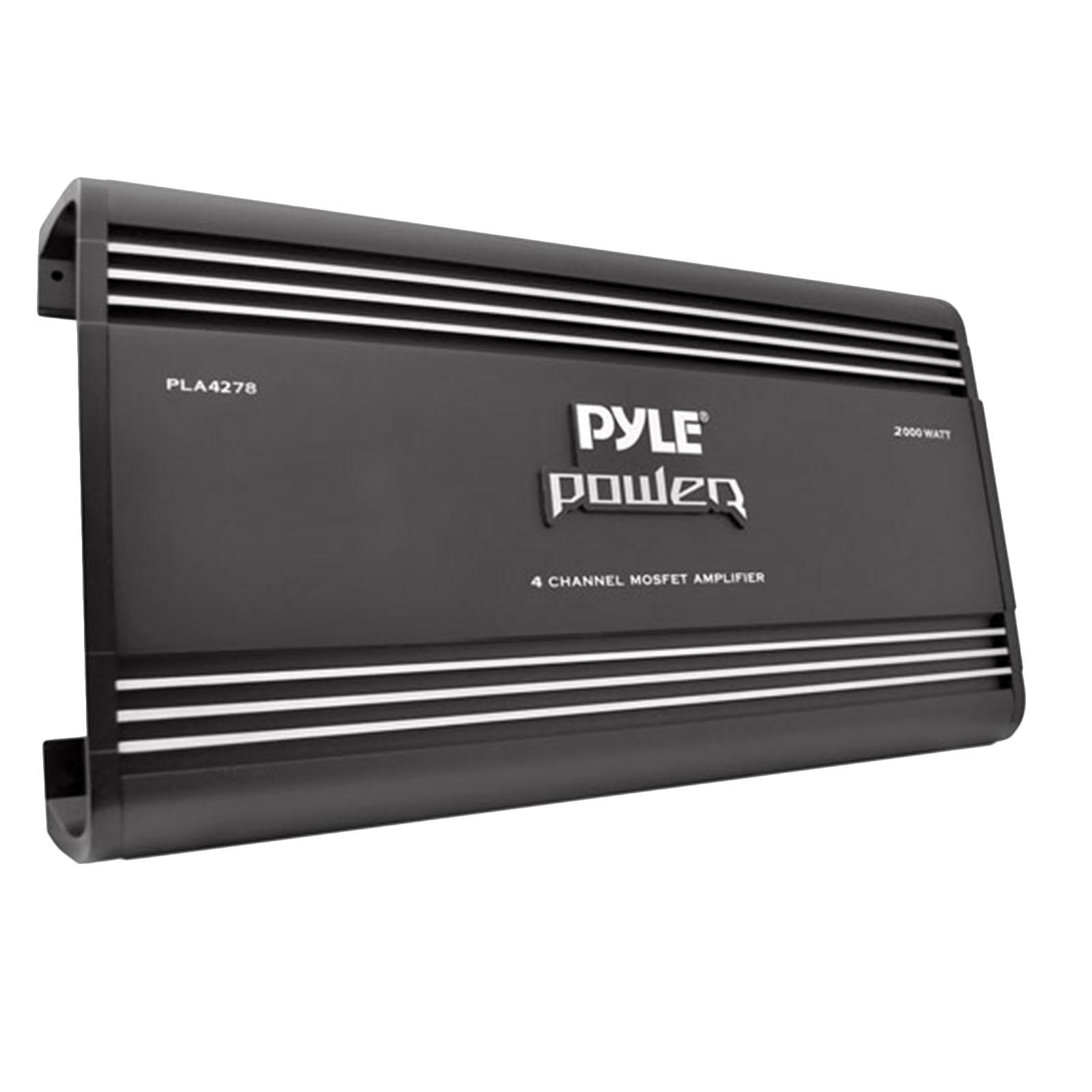 """PYLE PLA4278 - 4"""" Channel 2000 Watt Bridgeable MOSFET Amplifier"""