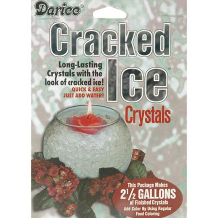 Darice Cracked Easy-clean, Easy-dry and Reusable Ice Crystals-Clear ...