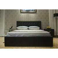 Greatime BS1111-2 Storage Bed, King, Black