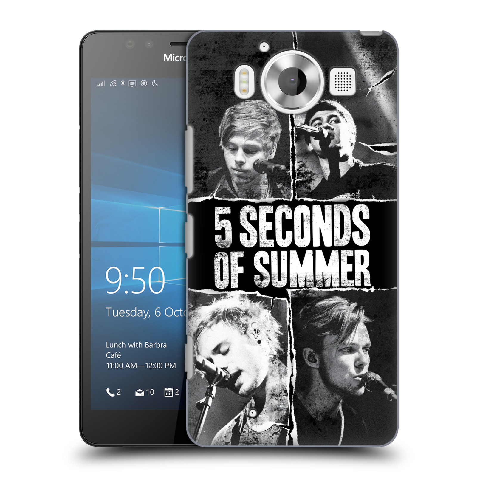 OFFICIAL 5 SECONDS OF SUMMER POSTERS HARD BACK CASE FOR MICROSOFT PHONES