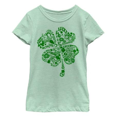 Girls' St. Patrick's Day Shamrock Sayings T-Shirt - St Patrick Sayings