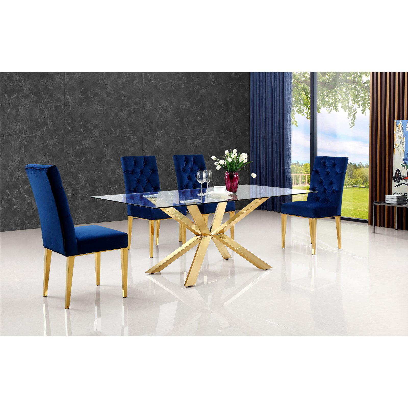 Meridian Furniture Inc Capri Gold Dining Table