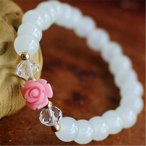 Merit 17030 Rose Small Gray Chalcedony Bracelet by