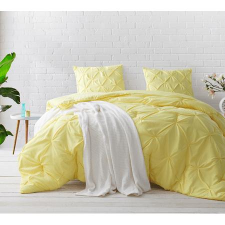 Yellow Comforter - BYB Limelight Yellow Pin Tuck Comforter