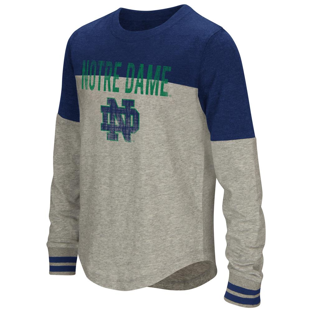 Youth Girls' Baton Notre Dame Fighting Irish Long Sleeve Shirt