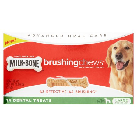 Milk Bone Brushing Chews Daily Dental Treats Large 18 86 Oz Value Pack  14 Bones
