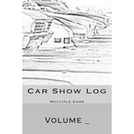Car Show Log : Multiple Cars Black and White Car Cover ()