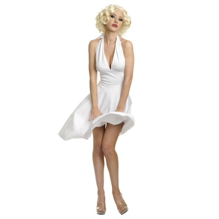Plus Size Marilyn Halter Dress - Plus Size Marilyn Monroe Costume (Marilyn Monroe Costume Halloween Express)