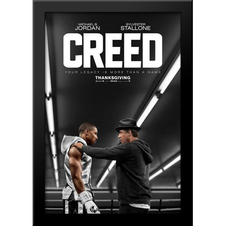 Creed 28x40 Large Black Wood Framed Print Movie Poster Art