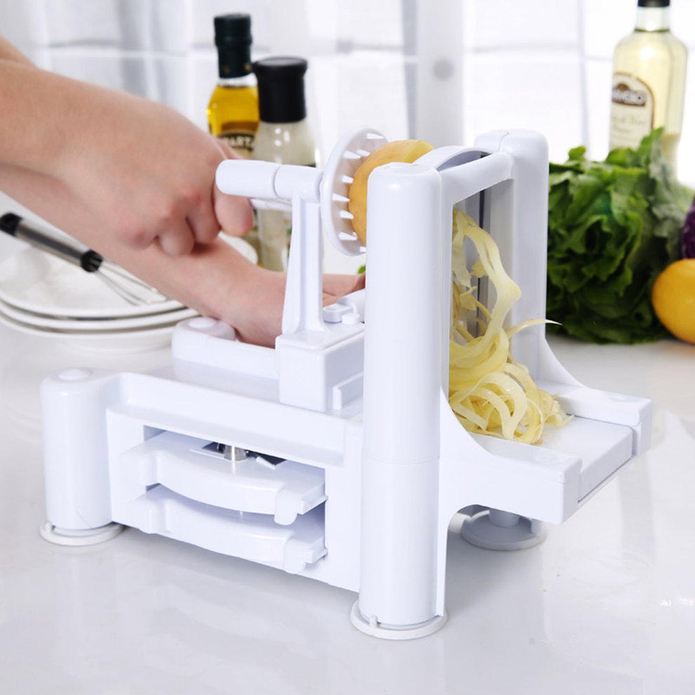 1/Set New and Essential Tri-Blade Vegetable Slicer Spiralizer Cutter Mandoline Chopper cooking tools kitchen knife