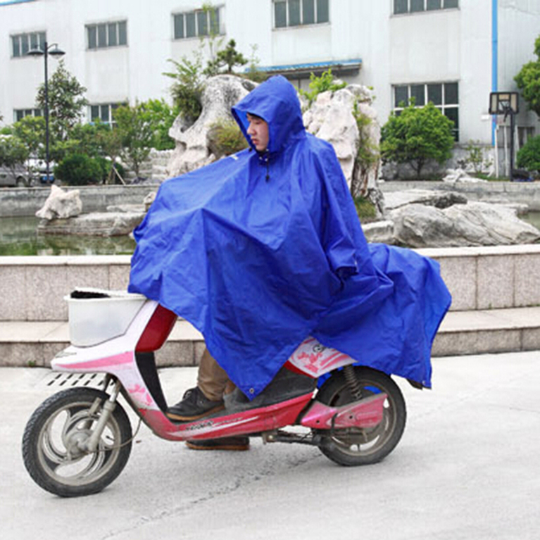 Royal Blue Multi-function Unisex Raincoat Backpack Raincover Poncho Picnic Ground Mat by
