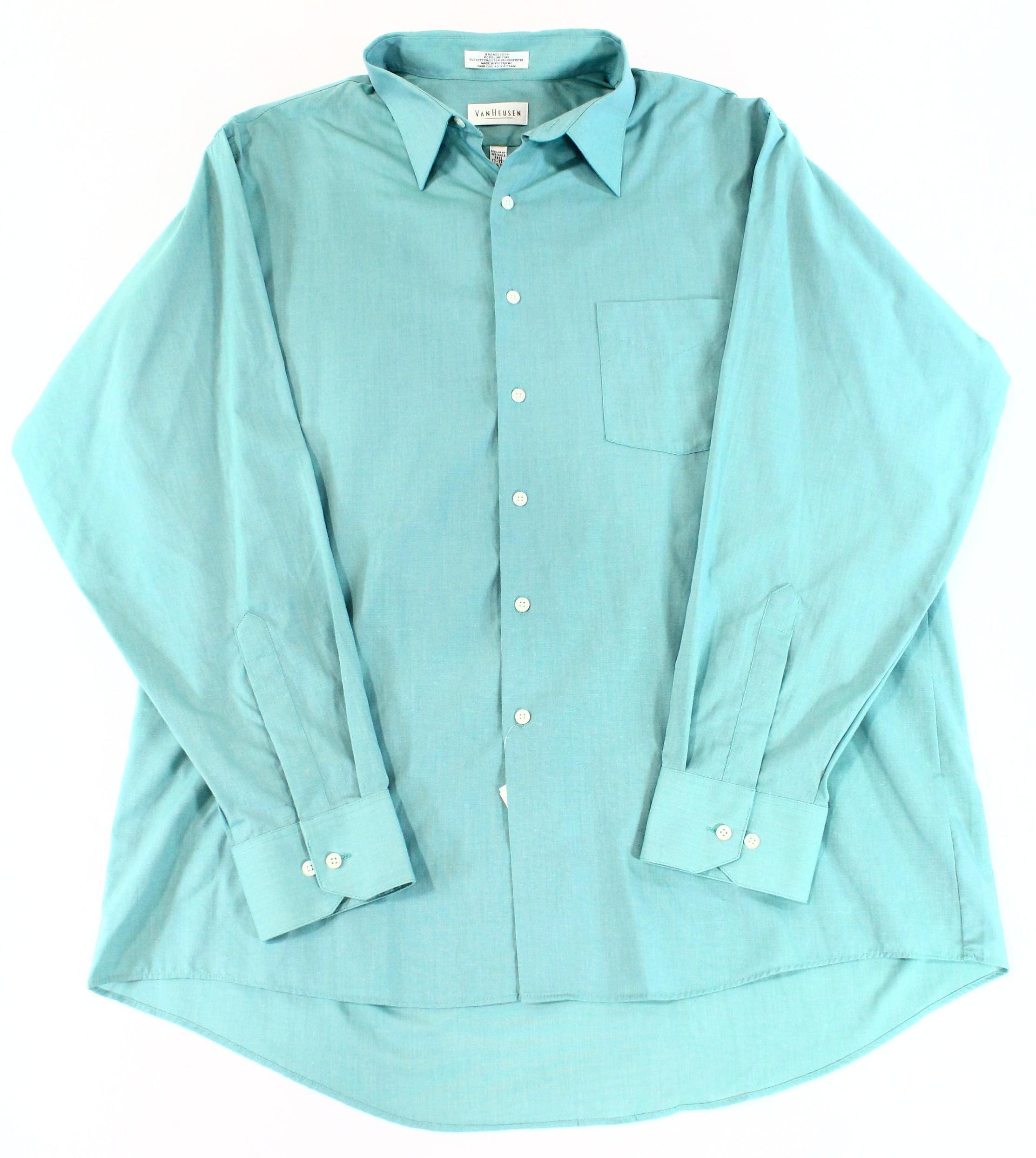 Van Heusen NEW Green Sea Grass Mens Size XL Button Front Pocket ...