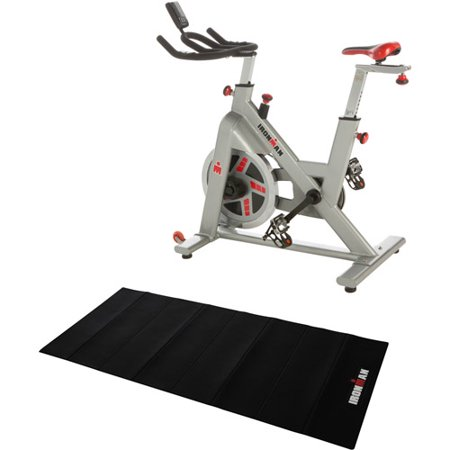 IRONMAN H-Class 510 Indoor Cycling Exercise Bike with Digital Computer and Heart Rate System with BONUS Exercise Equipment Mat Value Bundle
