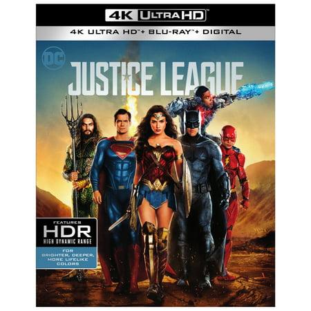 Justice League (2017) (Walmart Exclusive) (4K Ultra HD + Blu-ray + Digital) (Halloween 2 Intro 2017)