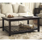 Bowery Hill Rectangular Coffee Table in Rustic Brown
