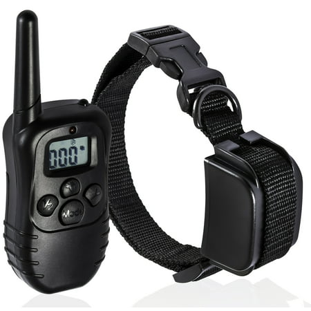 Remote Dog Training Collar 330 Yard Radius LCD 100LV Shock Pet Bark Yard Remote Trainer