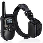 Remote Dog Training Collar 330 Yard Radius LCD 100LV Shock Pet Bark