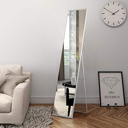 Ogcau Full Length Mirror Standing Wall, Free Standing Leaning Mirror