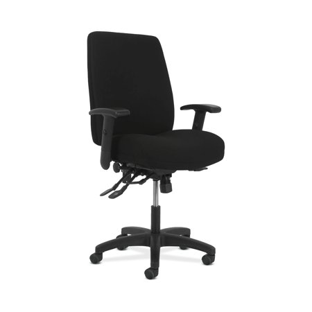 HON Network Series High-Back Task Chair - Computer Chair for Office Desk, Black Fabric - Fabric Task Office Chair