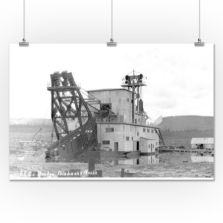 Fairbanks, Alaska - Exterior View of the F E  Co  Gold Dredge # 2 (24x36  Giclee Gallery Print, Wall Decor Travel Poster)