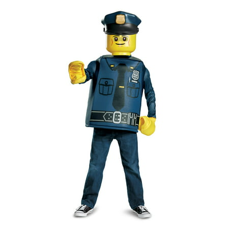 Lego Iconic - Police Officer Classic Child Costume - Lego Police Halloween Costume