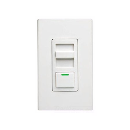 Leviton IP710-DLZ IllumaTech 1200VA Preset Fluorescent Slide Dimmer, Single Pole and 3-Way, White/Ivory/Light Almond