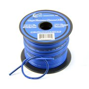14 Gauge Blue with Black Stripe Tracer Wire - 100' FT