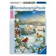 Winter Cardinals - 1000 Piece Jigsaw Puzzle - Ravensburger
