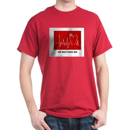 CafePress - The Beat Goes On Funny Post Heart Surgery T Shir - 100% Cotton T-Shirt
