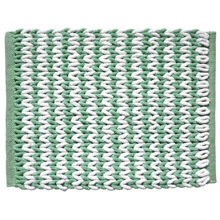 Better Homes & Gardens Seafoam Chevron Ripple Cotton Braided Bath Rug