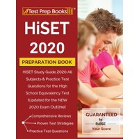 HiSET 2020 Preparation Book: HiSET Study Guide 2020 All Subjects & Practice Test Questions for the High School Equivalency Test [Updated for the NEW 2020 Exam Outline] (Paperback)
