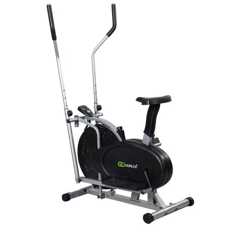 2 IN 1 Elliptical Bike Exercise Workout Home Cross Trainer Machine