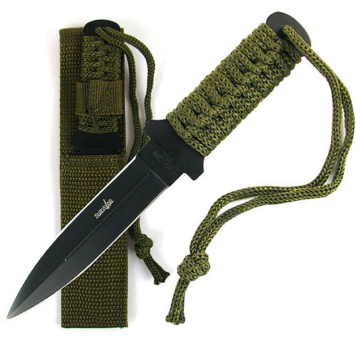 "Click here to buy Whetstone 6.875"" Stainless Steel Survival Knife With Case by TRADEMARK GAMES INC."
