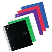 """Five Star 5 Subject College Ruled Notebook, 11"""" x 8 1/2"""", Assorted color, 6 Pack (73793)"""