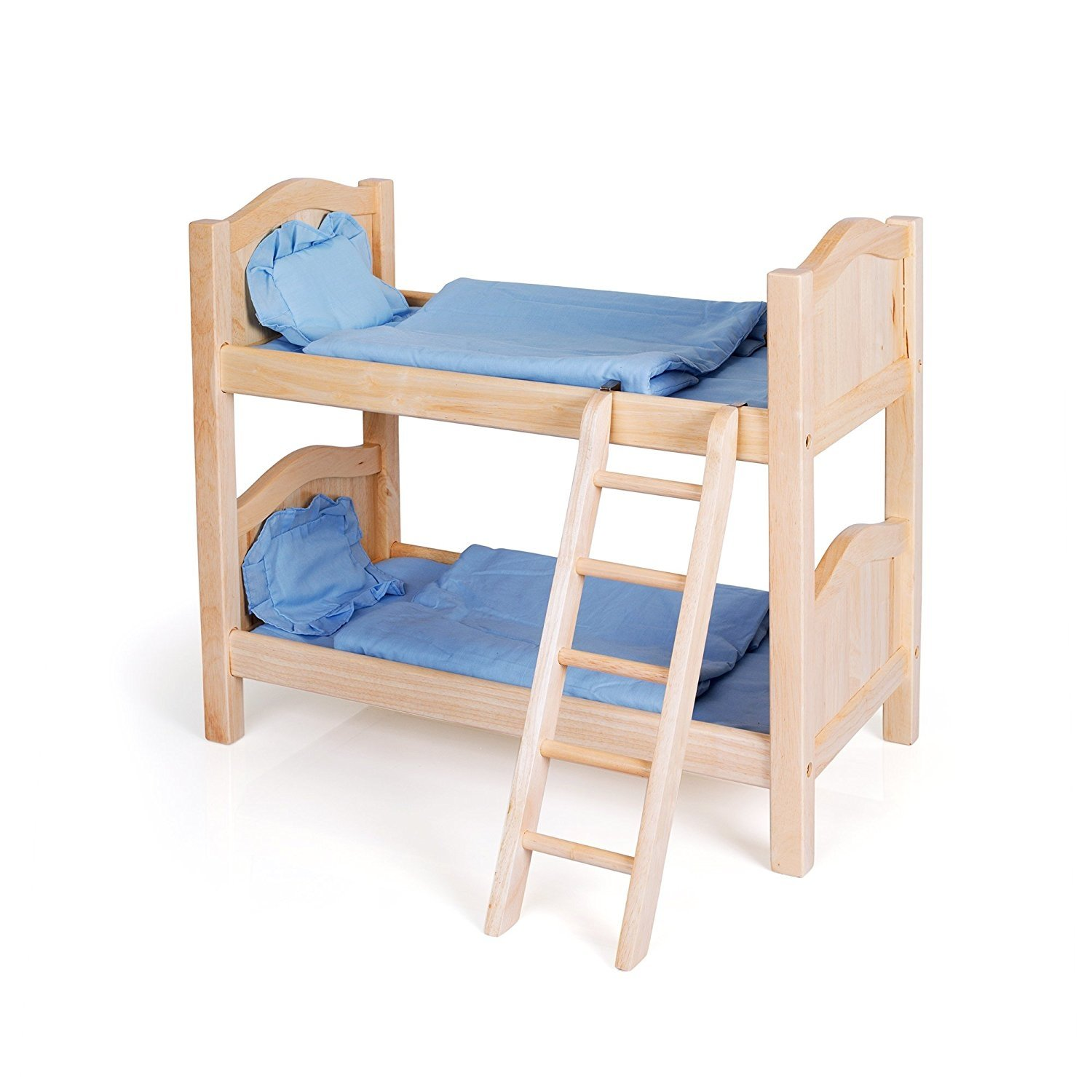 Guidecraft Natural Wooden Doll Bunk Bed Fits 18 American Girl